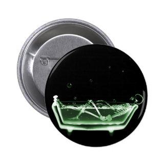 X-Ray Skeleton Bath Black Green Pins