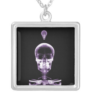 X-Ray Skeleton - Halloween - Radiology - Doctors Square Pendant Necklace