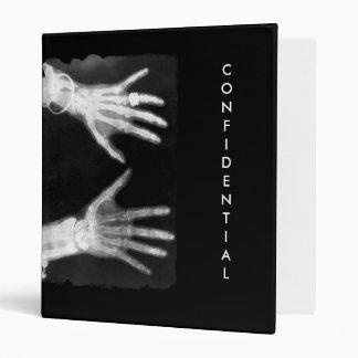 X-Ray Skeleton Hands & Jewelry - B&W CONFIDENTIAL Binder