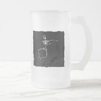 X-RAY SKELETON JOY LEAP B&W COFFEE MUGS