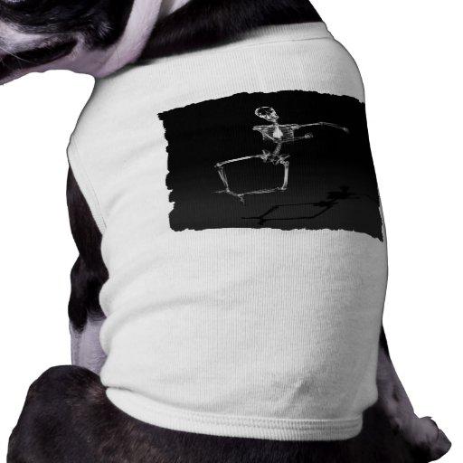 X-RAY SKELETON JOY LEAP B&W DOG TEE