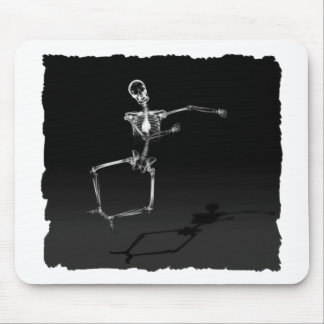 X-RAY SKELETON JOY LEAP B&W MOUSE PAD