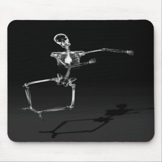 X-RAY SKELETON JOY LEAP - BLACK & WHITE MOUSE PAD