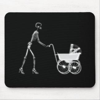 X-Ray Skeleton Mom Baby - Original B W Mousepad