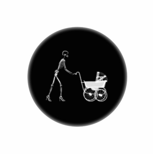 X-Ray Skeleton Mom & Baby - Original B&W Statuette
