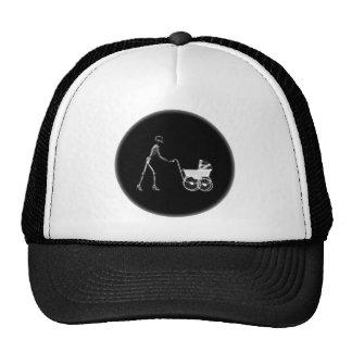 X-Ray Skeleton Mom & Baby - Original B&W Trucker Hat
