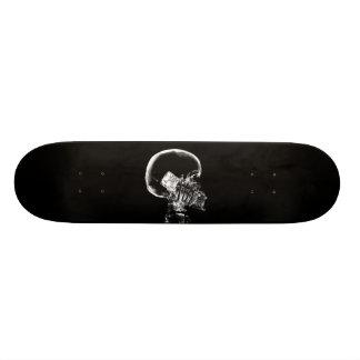 X-RAY SKELETON ON CELL PHONE BLACK & WHITE SKATEBOARD DECK