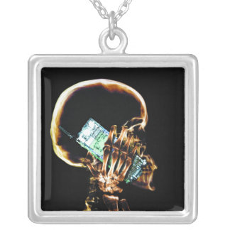 X-RAY SKELETON ON CELL PHONE PENDANTS