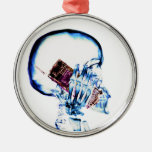 X-RAY SKELETON ON CELL PHONE CHRISTMAS TREE ORNAMENTS