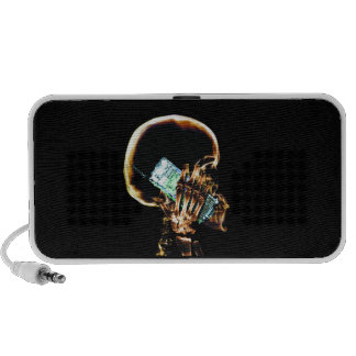 X-RAY SKELETON ON CELL PHONE LAPTOP SPEAKERS