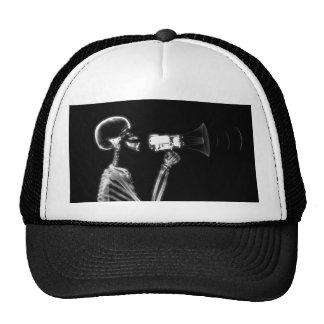 X-RAY SKELETON ON MEGAPHONE - B&W TRUCKER HAT