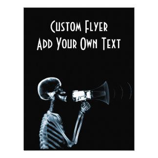 X-RAY SKELETON ON MEGAPHONE - BLUE FLYER