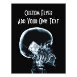 "X-RAY SKELETON ON PHONE - BLUE 8.5"" X 11"" FLYER"