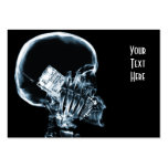 X-RAY SKELETON ON PHONE - BLUE LARGE BUSINESS CARD