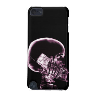 X-RAY SKELETON ON PHONE - PINK iPod TOUCH (5TH GENERATION) CASE
