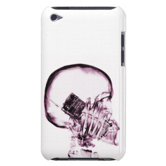 X-RAY SKELETON ON PHONE - PINK iPod TOUCH Case-Mate CASE