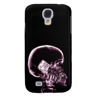 X-RAY SKELETON ON - PINK GALAXY S4 CASE