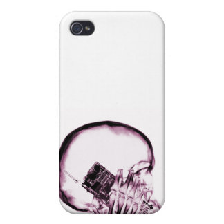 X-RAY SKELETON ON - PINK iPhone 4 COVER