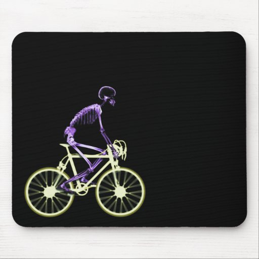 X-RAY SKELETON RIDING BIKE - ORIGINAL COLORS MOUSE PAD