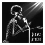 X-RAY SKELETON SINGING ON RETRO MIC - B&W CUSTOM ANNOUNCEMENT