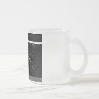 X-RAY SKELETON SOCCER GOALIE B&W COFFEE MUGS