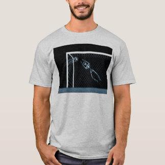 X-RAY SKELETON SOCCER GOALIE BLUE T-Shirt