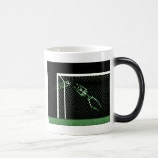 X-RAY SKELETON SOCCER GOALIE GREEN MAGIC MUG