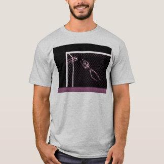 X-RAY SKELETON SOCCER GOALIE PINK T-Shirt