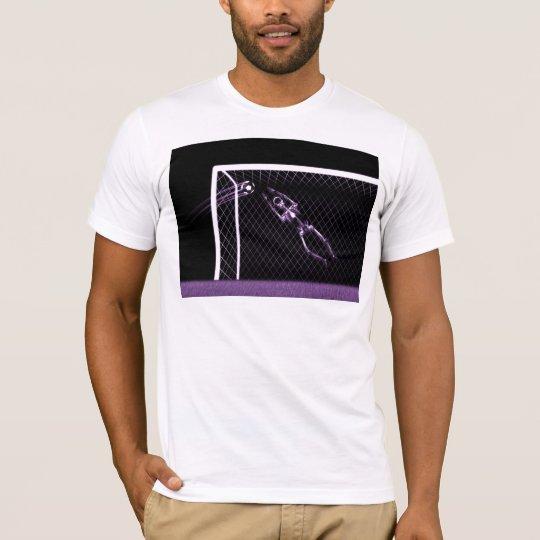 X-RAY SKELETON SOCCER GOALIE PURPLE T-Shirt