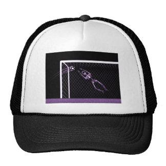 X-RAY SKELETON SOCCER GOALIE PURPLE TRUCKER HAT