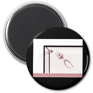 X-RAY SKELETON SOCCER GOALIE WHT RED MAGNET