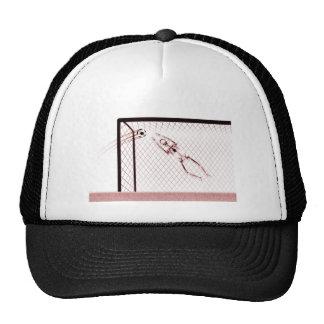 X-RAY SKELETON SOCCER GOALIE WHT RED TRUCKER HAT