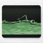 X-Ray Skeleton Swimming - Green Mouse Pad