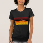 X-Ray Skeleton Swimming in Lake of Fire T-shirts