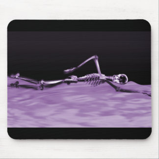 X-Ray Skeleton Swimming - Purple Mouse Pad
