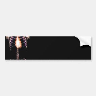 X-RAY SKELETON TORSO RIBS - ORIGINAL BUMPER STICKER
