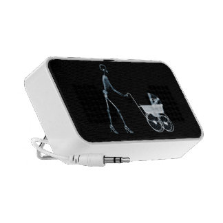 X-RAY SKELETON WOMAN BABY CARRIAGE - BLUE MP3 SPEAKERS