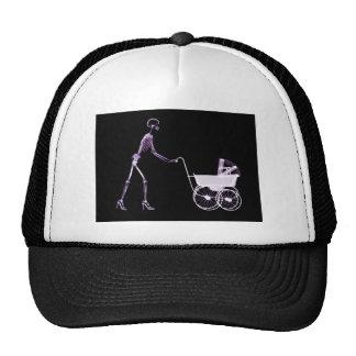 X-RAY SKELETON WOMAN CARRIAGE - PURPLE TRUCKER HAT