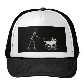 X-RAY SKELETON WOMAN CARRIAGE - SEPIA TRUCKER HAT