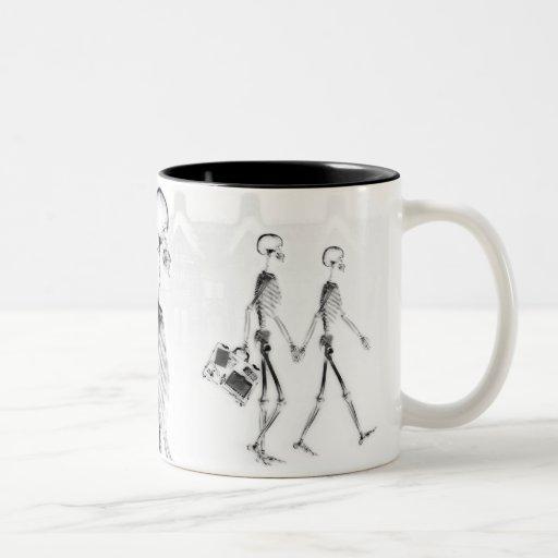 X-Ray Skeletons Afternoon Stroll Neg BW Mug