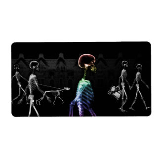 X-Ray Skeletons Midnight Stroll - B&W & Rainbow Label