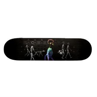 X-Ray Skeletons Midnight Stroll - B&W & Rainbow Skateboard