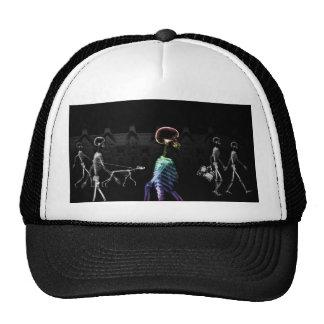 X-Ray Skeletons Midnight Stroll - B&W & Rainbow Trucker Hat