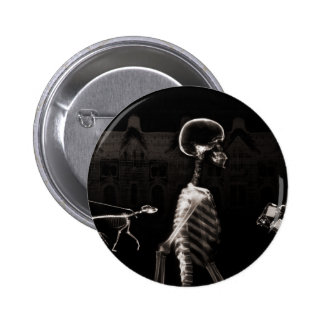 X-Ray Skeletons Midnight Stroll Black Sepia Buttons