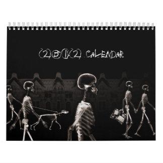 X-Ray Skeletons Midnight Stroll Black Sepia Wall Calendars