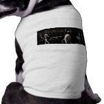 X-Ray Skeletons Midnight Stroll Black Sepia Doggie Tee Shirt