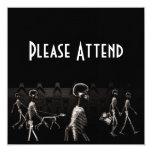 X-Ray Skeletons Midnight Stroll Black Sepia Invitations