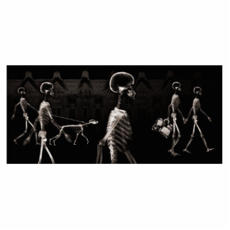 X-Ray Skeletons Midnight Stroll Black Sepia Statuette