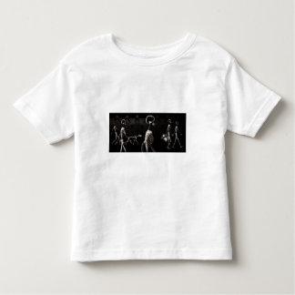 X-Ray Skeletons Midnight Stroll Black Sepia T-shirt