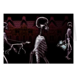 X-Ray Skeletons Midnight Stroll Card